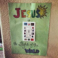 My Father's World Adventures in US History - Light Switch Poster - Week 4