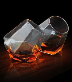 Coffret de deux verre à whisky en diamant