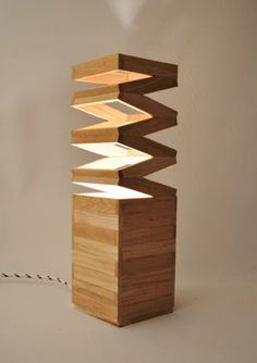 Wooden Lamps - including Articulated People - by DWSK Lamps