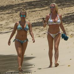 Her mother or sister? Zara Holland and her motherCheryl Hakeney looked incredible as they headed out in Barbados wearing beautiful bikinis