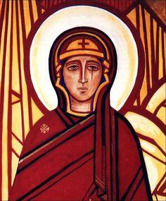 Kiko Arguello Catholic Art, Roman Catholic, Religious Art, Christian Paintings, Christian Art, Paint Icon, Byzantine Icons, Mother Mary, Virgin Mary