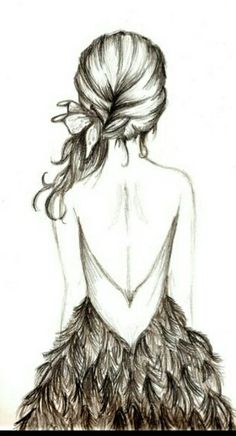 feather dress tumblrsketch