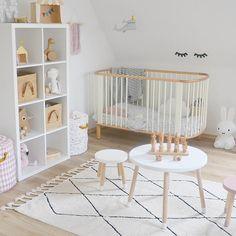 Bereber Rug Beige, in front of crib