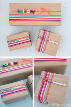 Creative DIY Gift Wrapping Ideas For Kids: Personalize Their Presents For Birthd. Creative DIY Gift Wrapping Ideas For Kids: Personalize Their Presents For Birthdays, Christmas, Or Just To See Them Smil. Diy Gifts For Christmas, Christmas Gift Wrapping, Elegant Christmas, Handmade Christmas, Creative Gift Wrapping, Creative Gifts, Gift Wrapping Ideas For Birthdays, Diy Birthday Wrapping Ideas, Creative Birthday Gifts