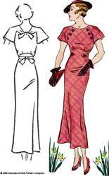 # 3007 1930 Knopf Kleid