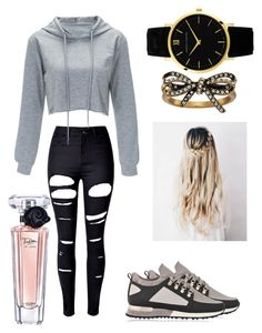 """Untitled #146"" by nerdypanda777 ❤ liked on Polyvore featuring WithChic, MALLET, Marc Jacobs and Lancôme"