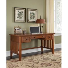 Home Styles Furniture Arts and Crafts Cottage Oak Executive Desk