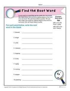 Third grade money worksheet k 5 computer lab technology for Terr root word