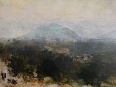 "Kathleen Speranza, ""Monte Soratte"" Oil on panel 12.5″ X 17.5″"