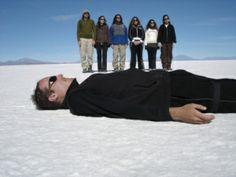 I'd like to welcome my cousin @Joel Wakefield to Pinterest! doing a reverse plank in Bolivia on the salt plains