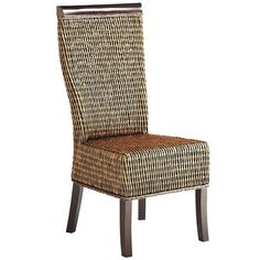 Lurik Hand-Woven Dining Chair - Just bought 4 of these for a round glass top table. LOVE them. Had to go to 2 stores to get all 4 but totally worth the extra miles. They are actually darker than pictured here.