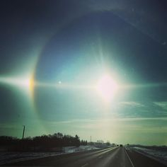 cool day on the prairies Sun Dogs, Northern Lights, Clouds, Sky, Sunset, Amazing, Instagram Posts, Travel, Life