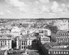 Pátio do Colégio e entorno (visto em direção ao bairro da Aclimação), entre 1925 e 1930-