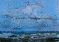 """Daily Paintworks - """"Choppy Waters, Seascape Paintings by Arizona Artist Amy Whitehouse"""" - Original Fine Art for Sale - © Amy Whitehouse"""