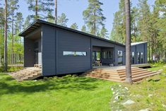 Photo 1 of 21 in These 8 Log Cabin Kit Homes Celebrate Nordic Minimalism - Dwell Prefab Log Cabins, Modern Log Cabins, Modern Prefab Homes, Modular Homes, Prefab Cabin Kits, Small Log Cabin Kits, Log Cabin Home Kits, Cabin Kit Homes, Log Homes