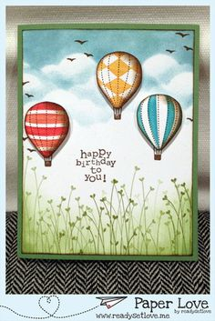 Stampin' Up! - Up, Up, and Away and Valentine Defined