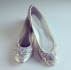 Cinderella's Slipper Bridal Ballet Flats Wedding by BeholdenBridal