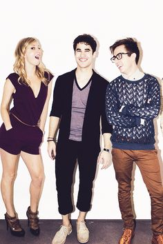 Heather Morris, Darren Criss & Kevin McHale from Glee Heather Elizabeth Morris, Heather Morris, Kevin Mchale, Darren Criss Glee, Becca Tobin, Glee Club, Chris Colfer, Cory Monteith, Best Tv Shows