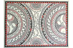 Exploring tribal arts of India: Madhubani Madhubani Paintings Peacock, Kalamkari Painting, Tanjore Painting, Madhubani Art, Worli Painting, Fabric Painting, Mandala Design, African Art Paintings, Mandala Art Lesson