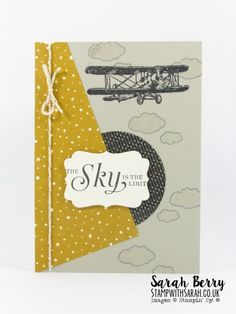 Sky Is the Limit (SAB) card for Pals Paper Arts #284 Challenge by Stampin Up Demonstrator Sarah Berry