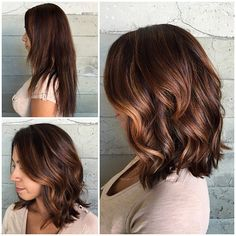A hand-painted textured lob... New life from Butterfly Loft stylist Jacqui.