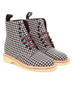 Dr.Martens : Houndstooth Air Wair Boots