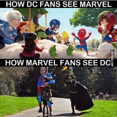 As a Marvel fan I see DC as bunch of folks trying to catch up to what Marvel has done cinematically. And it's full of destruction of the general populace