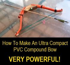 We have done several posts about making DIY PVC bows, but this is the first DIY compound bow tutorial we have featured. Not only is this a compound bow, but it is an ultra compact compound bow which also just happens to be very powerful! Check out the vid Survival Weapons, Survival Prepping, Survival Skills, Survival Gear, Survival Stuff, Tactical Survival, Survival Equipment, Wilderness Survival, Emergency Preparedness
