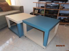 IkeaHackers: Quad LACK coffee table on wheels