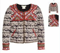 Isabel Marant/h&m Beaded Embroidery Jacket $605
