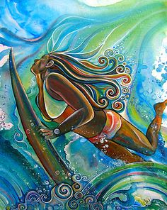 Colleen Malia Wilcox | COTW Surf Artist  @Chelsea Rose Rose Rose Greinstein I think you could paint this!!!!