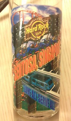 Hard Rock Cafe Sentosa, Singapore shot glass.