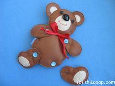 Button the bear together (Build a bear!) Cute