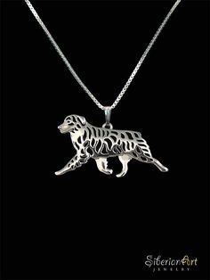 An unique Australian Shepherd pendant & necklace, designed by Amit Eshel.  This delicate fine jewelry will keep your Aussie close to heart