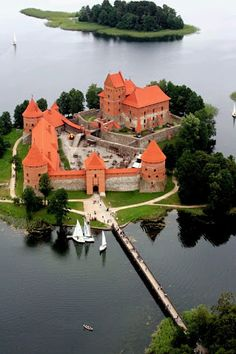 Castillo isla Trakai Lituania