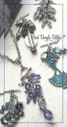 """Hand Crafted Pewter & Stainless Steel Pendant & Dangle Beaded Necklaces. Mix & Match """"There Interchangeable"""""""