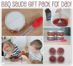 Homemade BBQ Sauce For Dad {have the kids make some as a Father's Day Gift}