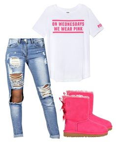 """""""Forgot To Post Earlier This But On Wednesdays We Wear Pink ♡"""" by prettygirlnunu ❤ liked on Polyvore"""