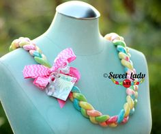 Sour Yummy Gummy Worm Lei by Sweet Lady Lei Perfect for Valentine's Day, Birthdays, Graduations and Anniversaries.
