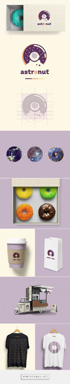 Astronut® Donuts from Outer space — The Dieline - Branding & Packaging… Graphic Design Layouts, Graphic Design Branding, Corporate Design, Corporate Identity, Graphic Design Inspiration, Typography Design, Logo Design, Lettering, Visual Identity