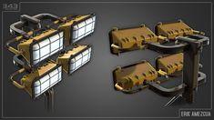 ArtStation - Halo 5: Guardians - Industrial Generator Lamp, Erik Amezcua