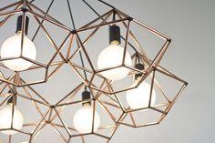Copper chandelier!