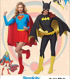 Simplicity Patterns Us1036H5-Simplicity Misses' Supergirl And Batgirl Costumes-6-8-10-12-14