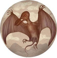 Der Kongamato kommt aus der Luft wie ein riesiger Vogel, soll ein lebender Flugsaurier, ein Pterosaurus, sein – und schon mehrmals Menschen in den Jiundu-Sümpfen im Kongo angegriffen haben. Die gesamte Monster-Map gibt es hier: http://www.travelbook.de/welt/Monstermap-Monster-Mythen-aus-aller-Welt-504575.html