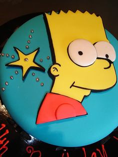 This amazing Simpsons cake would be perfect for your celebration. Please visit my Simpsons party page for more great ideas such as invitations, party supplies, decorations, cake & cupcake supplies and party favors.