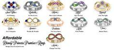 Disney Princess Inspired Promise Rings.