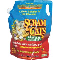 Scram for Cats is a highly effective, fully organic, biodegradable granular cat repellent product. It will safely and naturally repel cats away from anything you sprinkle it on - including your garden.