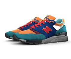 Set the trend in a style all your own. The 998 is a retro look with a modern attitude — and it's arguably one of the most trendsetting sneakers in our iconic 990 series. Mix and match premium suede with perforated suede or mesh. Make it classic, or give it a fresh look. The 998 is all yours.
