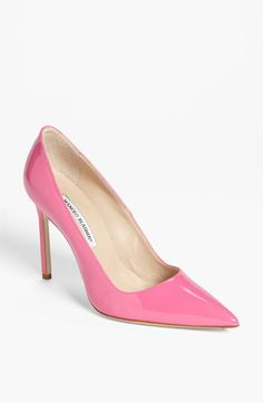 Manolo Blahnik 'BB' Pointy Toe Pump and if anyone asked me why I was wearing such fancy shoes, I would respond with : because it's (insert day of the week)