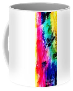 Luxe Splash Coffee Mug by Rachel Maynard. Mixed Media Artwork, Mugs For Sale, Basic Colors, Doodle Art, Color Show, Colorful Backgrounds, Coffee Mugs, Doodles, Canvas Prints